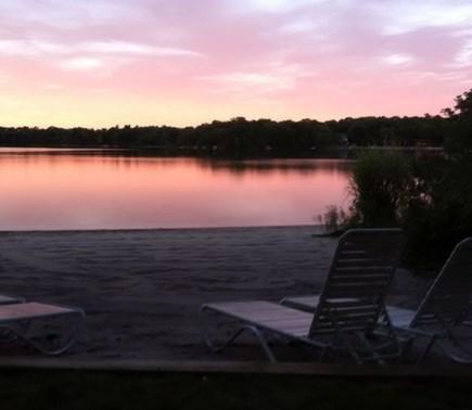 Plymouth MA vacation rental - Sunset on Lake Ezekiel