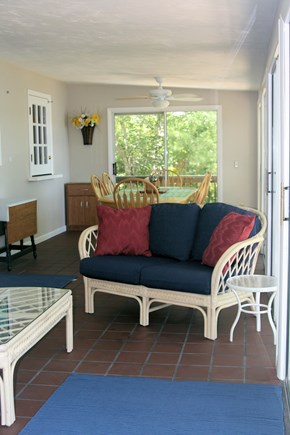 Plymouth MA vacation rental - Large Sunroom Surrounded by Sliders. Great Views & Breezes