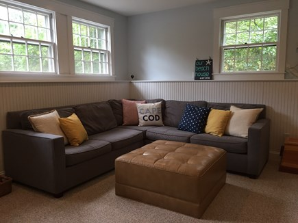 Falmouth Cape Cod vacation rental - Lower level family room