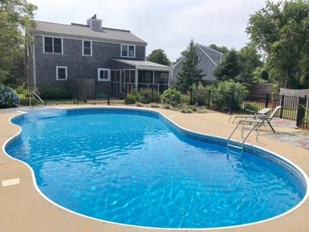 Falmouth Cape Cod vacation rental - Huge Heated Pool - View of back of the house