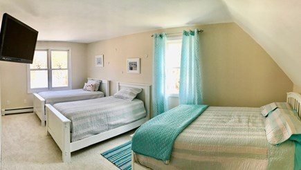 Falmouth Cape Cod vacation rental - Sand Dollar Dorm - 2 single and one double bed large screen TV