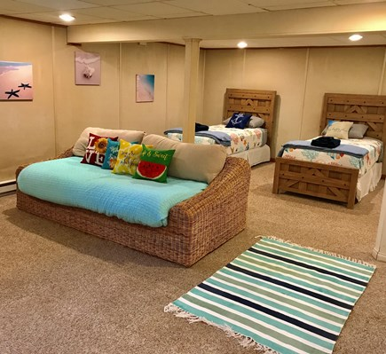 Falmouth Cape Cod vacation rental - Lower level 2 single beds and one double daybed with TV area