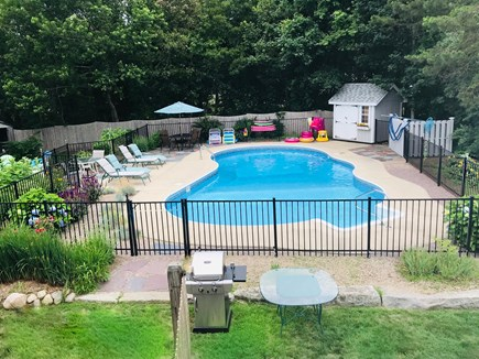 Falmouth Cape Cod vacation rental - Beautiful Backyard with pool, gas grill, fire pit and large yard