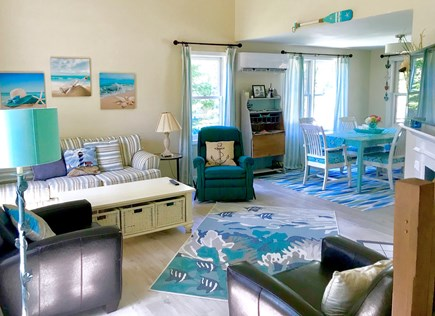Falmouth Cape Cod vacation rental - 1st floor open floor plan living/dining & kitchen area