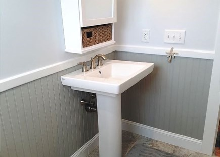 Orleans Cape Cod vacation rental - Pedestal sink in Bathroom