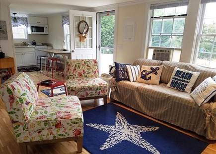 Orleans Cape Cod vacation rental - Nautical themed living room