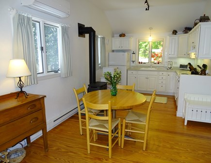 Orleans Cape Cod vacation rental - View of dining area and modern white kitchen w/ new appliances