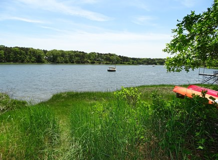 Orleans Cape Cod vacation rental - Water at the end of Higgins Way — about 75 yards from the cottage