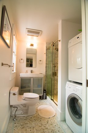 Provincetown Cape Cod vacation rental - Bathroom & laundry