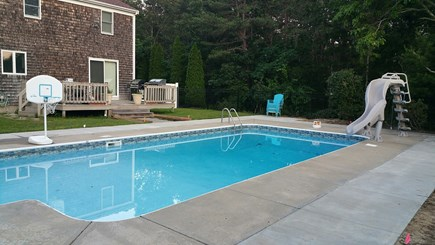 Falmouth, Teaticket Cape Cod vacation rental - Private heated inground pool with deck and sandy area