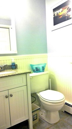 Falmouth, Teaticket Cape Cod vacation rental - 1st floor full bathroom with washer and dryer