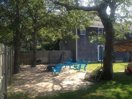 Falmouth, Teaticket Cape Cod vacation rental - Private back yard play in sand enjoy the fire pit relax in hammoc
