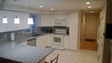Falmouth, Teaticket Cape Cod vacation rental - Completely renovated kitchen with granite and island peninsula