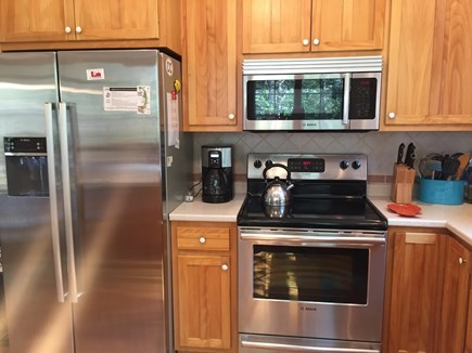 Eastham Cape Cod vacation rental - Kitchen equipped with new stainless steel appliances