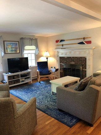 Eastham Cape Cod vacation rental - Open floor plan.  View of the Living Room.