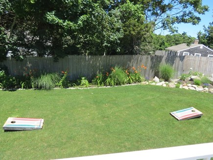 Orleans Cape Cod vacation rental - Good sized level yard -- corn hole, anyone?