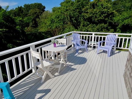 Orleans Cape Cod vacation rental - Upper level deck is yet another place to gather and relax.