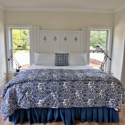 East Orleans Cape Cod vacation rental - Main Floor Bedroom with En Suite Double Vanity Bathroom