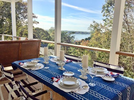 East Orleans Cape Cod vacation rental - Outdoor Covered Dining with a View