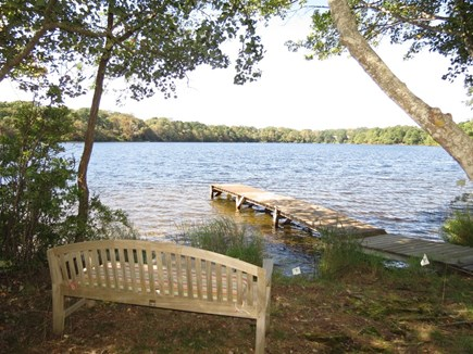 Orleans Cape Cod vacation rental - Sit here with an adult beverage at sunset over the lake.