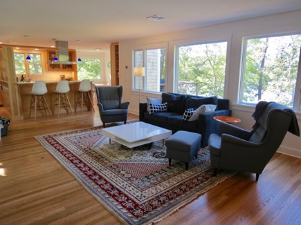 Orleans Cape Cod vacation rental - Main lounge area flows into kitchen for easy socializing