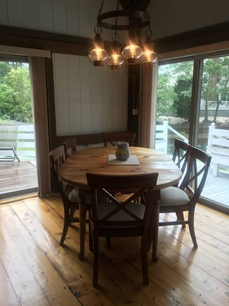New Seabury, Popponesset Island  New Seabury vacation rental - Open Dining area with cathedral ceiling