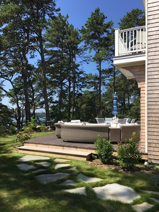 Brewster Cape Cod vacation rental - Back yard.. You will always find a sunny or shady spot to relax