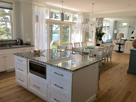 Brewster Cape Cod vacation rental - Kitchen with oversized island and sit up counter