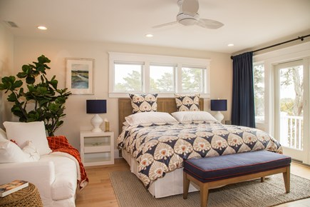 Brewster Cape Cod vacation rental - Master bedroom with Romeo & Juliet balcony overlooking the pond