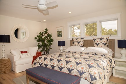 Brewster Cape Cod vacation rental - Master bedroom, king size bed with finest embroidered linens