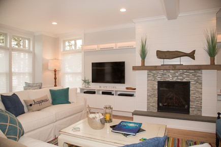 Brewster Cape Cod vacation rental - Airy living room where colors bring harmony and balance