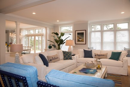 Brewster Cape Cod vacation rental - A light flooded living room with very comfortable seating for 6