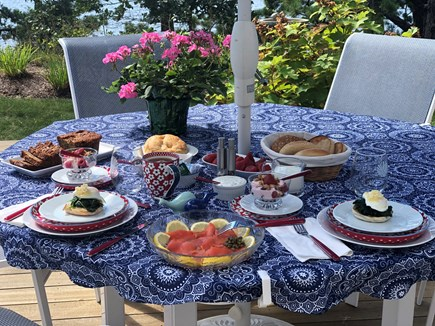 Brewster Cape Cod vacation rental - Inspirational breakfast table