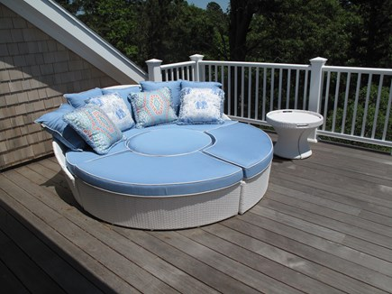 Brewster Cape Cod vacation rental - Upstairs Deck with day bed, pond view great for morning yoga