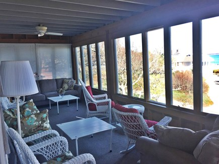 Sagamore Beach, Bourne Sagamore Beach vacation rental - Relax on the private three season porch and enjoy the ocean view