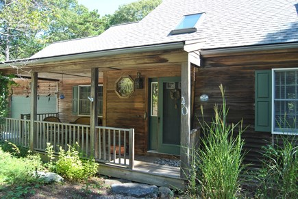 South Wellfleet Cape Cod vacation rental - The front of the house and its porch.
