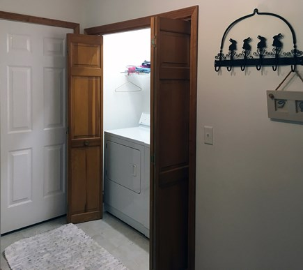 South Wellfleet Cape Cod vacation rental - The central laundry Room with folding tables.