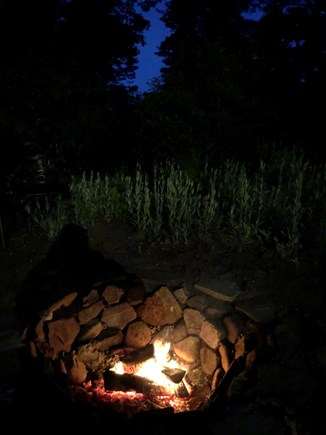 South Wellfleet Cape Cod vacation rental - A Yard Fire Pit for family fun and S'mores.