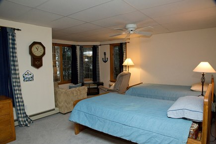 South Wellfleet Cape Cod vacation rental - A Bedroom with two single beds and plenty of extra room.