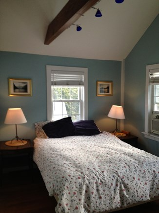 Provincetown Cape Cod vacation rental - Master bedroom with queen bed and en suite bath