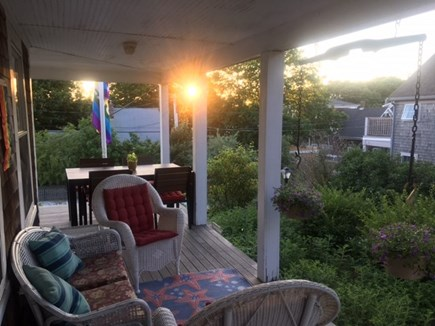 Provincetown Cape Cod vacation rental - Dawn on wicker porch