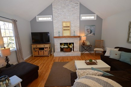 Orleans Cape Cod vacation rental - Gorgeous living room with sectional couch and flat screen tv