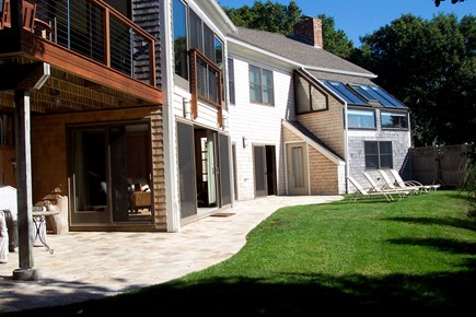 Eastham Cape Cod vacation rental - Spacious porch and patio with views of the water