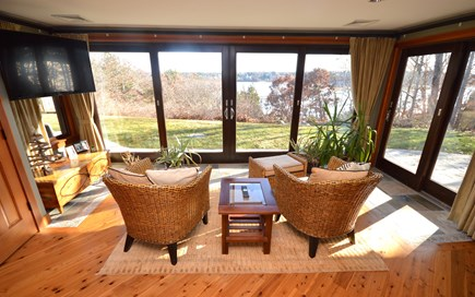 Eastham Cape Cod vacation rental - Seating area in master suite with water views