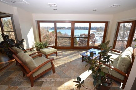 Eastham Cape Cod vacation rental - Sun room with sweeping water views and deck access