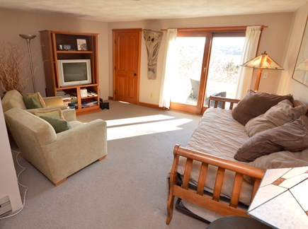 Eastham Cape Cod vacation rental - Living area on lower level with daybed, futon and bunk bed