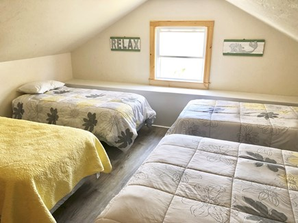 Harwich Cape Cod vacation rental - Upstairs bedroom with 1 full and 3 twin beds
