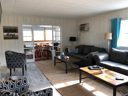 Harwich Cape Cod vacation rental - Living room open to dining area
