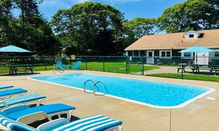 Harwich Cape Cod vacation rental - Private backyard and pool