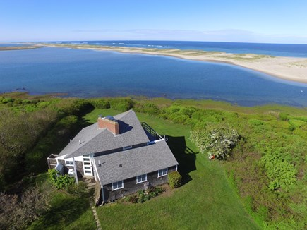 Orleans Cape Cod vacation rental - Aerial of house with views of Nauset Beach and the Atlantic Ocean